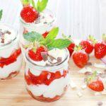 Mascarponecreme mit frischen Erdbeeren