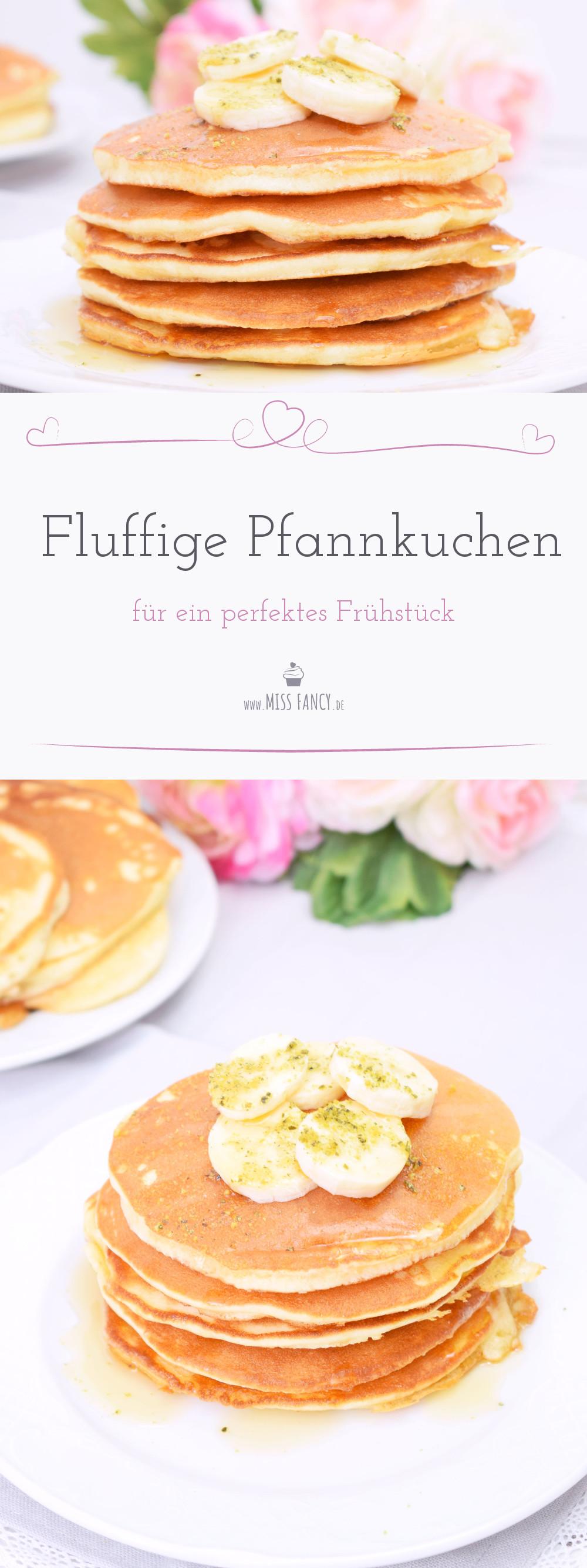 Rezept fluffige Pfannkuchen für das Frühstück Missfancy Foodblog