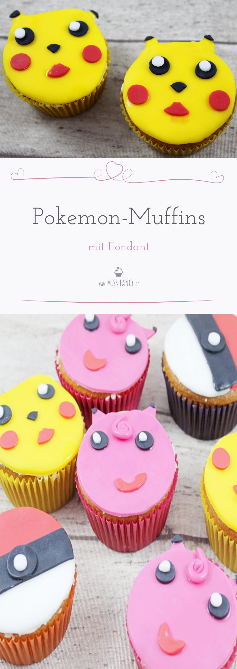Pikachu, Pummeluff & Co. - Backrezept und Anleitung für Pokemon- und Pokeball-Muffins mit Fondant für eine gelungene Kinder-Geburtstagsparty.