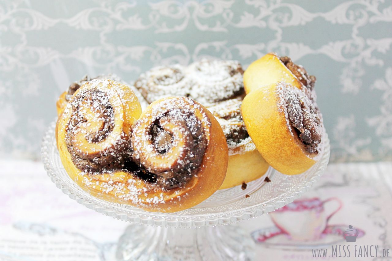 Rezept Nutella-Herzen aus Hefeteig