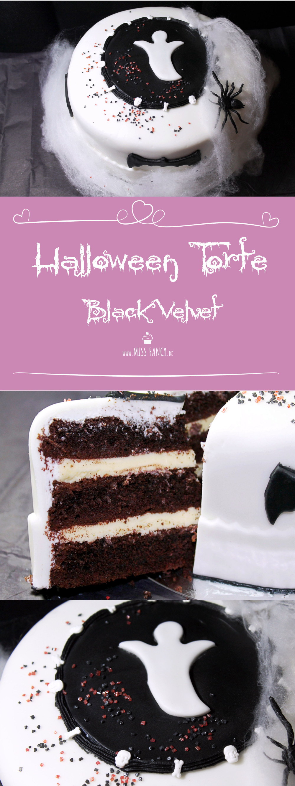 Rezept Halloween Torte Black Velvet Missfancy Foodblog