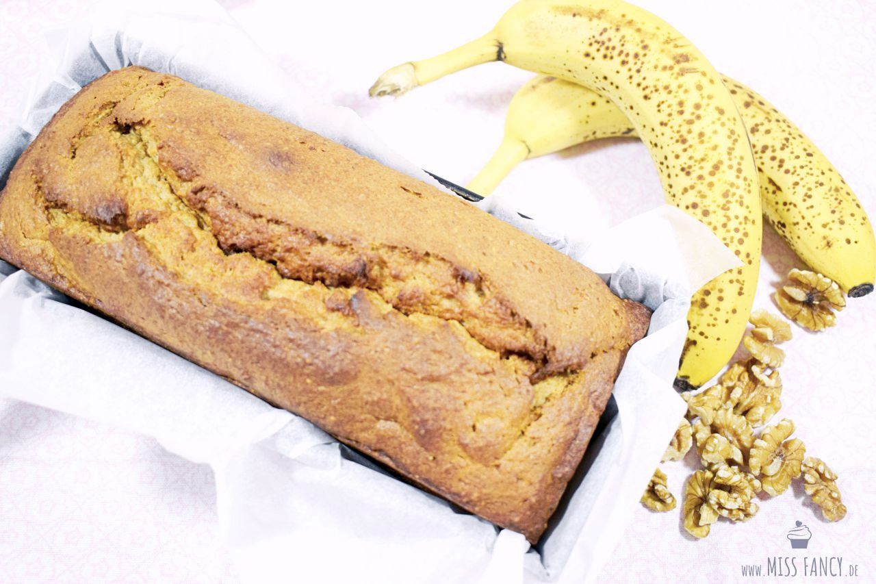REZEPT Bananen Walnussbrot Kuchen Vegan Missfancy