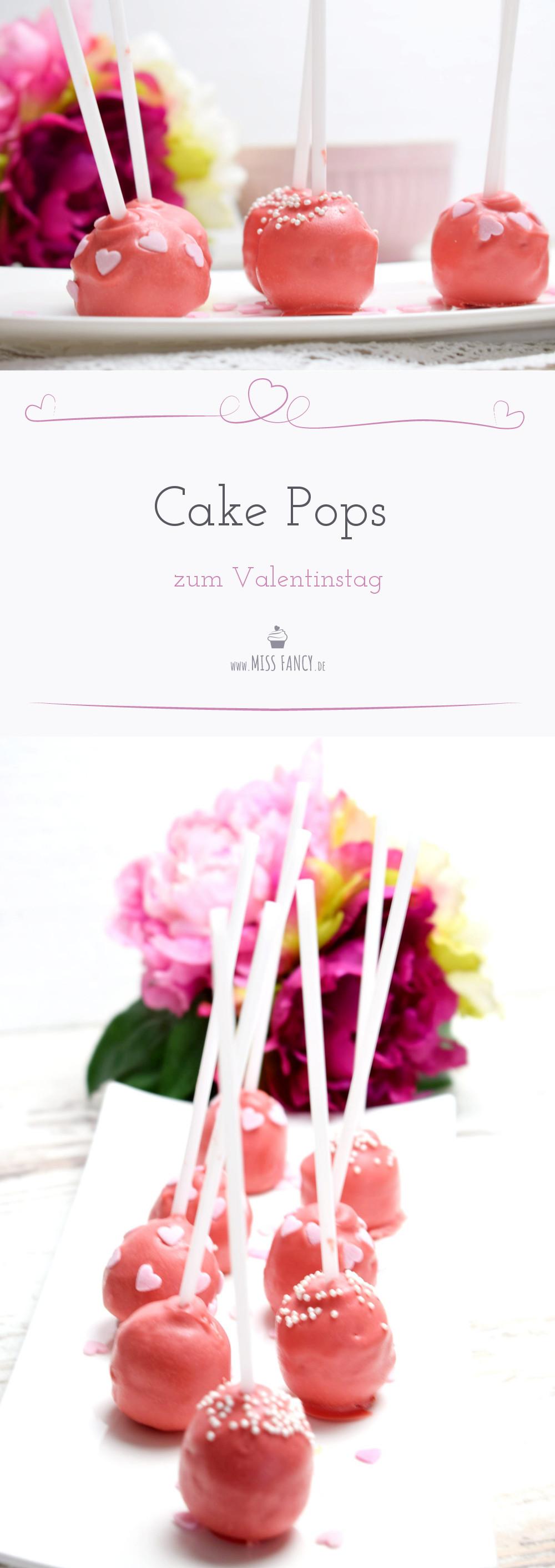 Cake Pops für Valentinstag