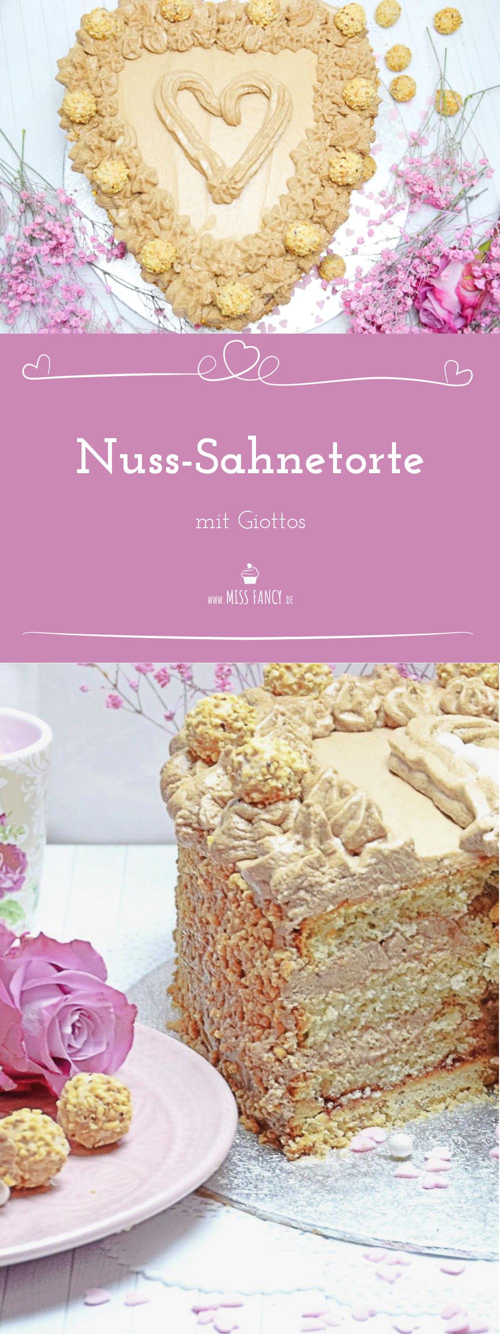 Nuss-Sahne-Torte mit Giottos