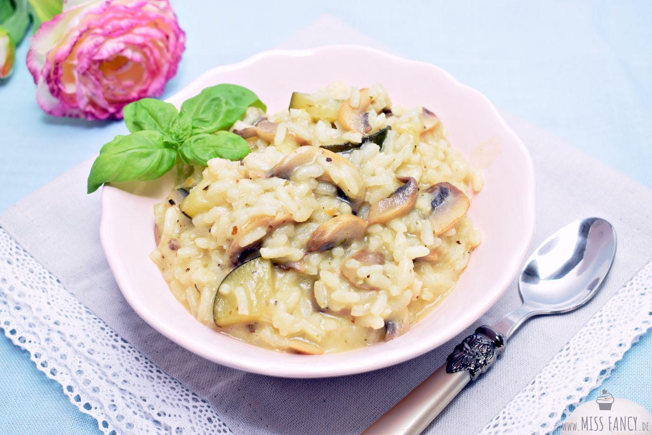 Risotto mit Champignons und Zucchini | Alltagsküche - Rezepte für jeden Tag