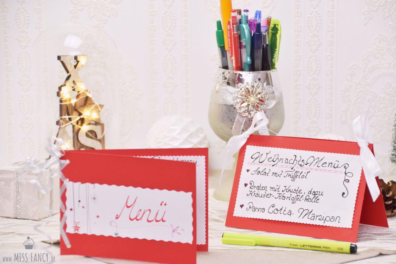 DIY Weihnachtsmenükarten