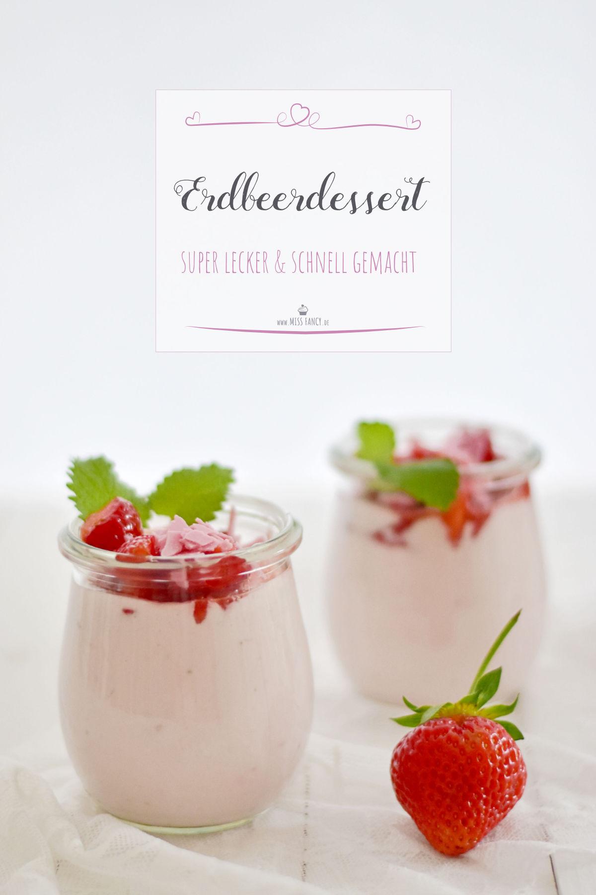 Rezept-Erdbeerdessert
