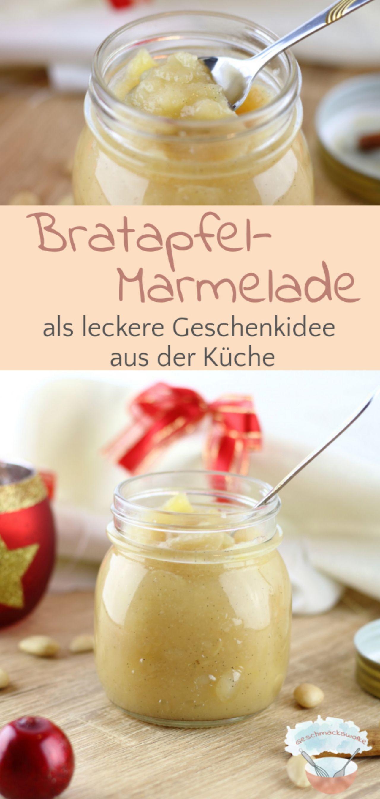 Winterliche Bratapfel-Marmelade als Geschenk aus der Küche - #bratapfelmarmelade #bratapfel #marmelade #apfelaufstrich #küchengeschenk #frühstück #winterrezept